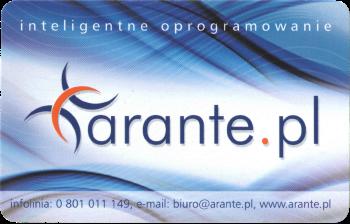 Przód karty stałego klienta sklepu Arante.pl